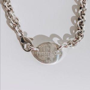 Tiffany and Co Return to Tiffany Silver Necklace